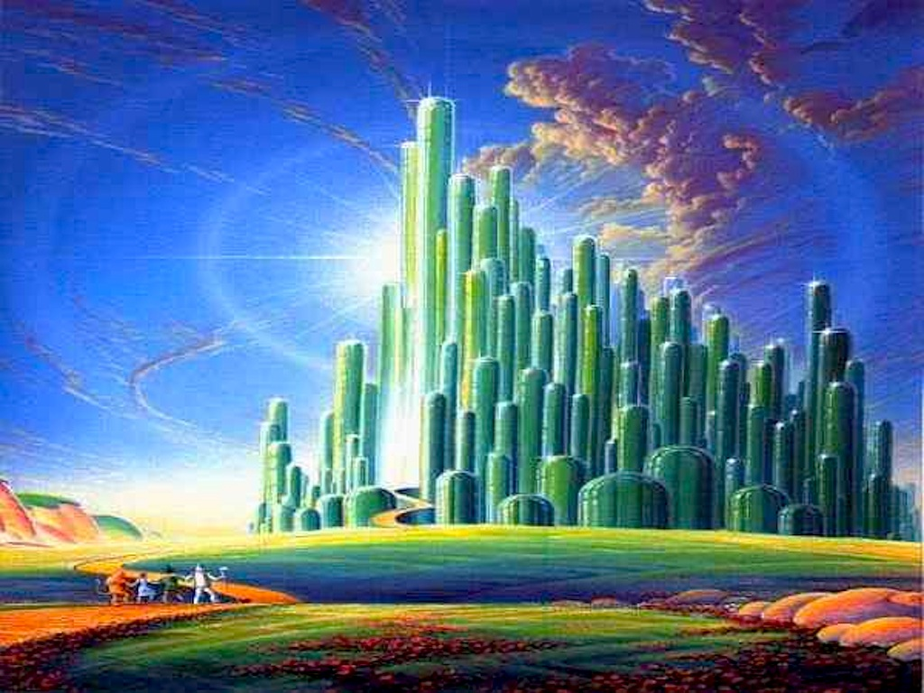 42 Emerald City Wallpaper On Wallpapersafari