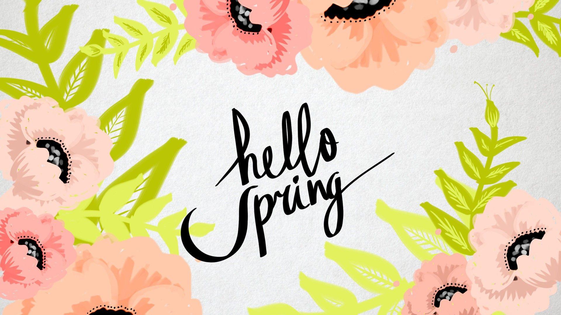 Wallpaper Hello Spring Best HD Wallpapers Spring desktop 1920x1080