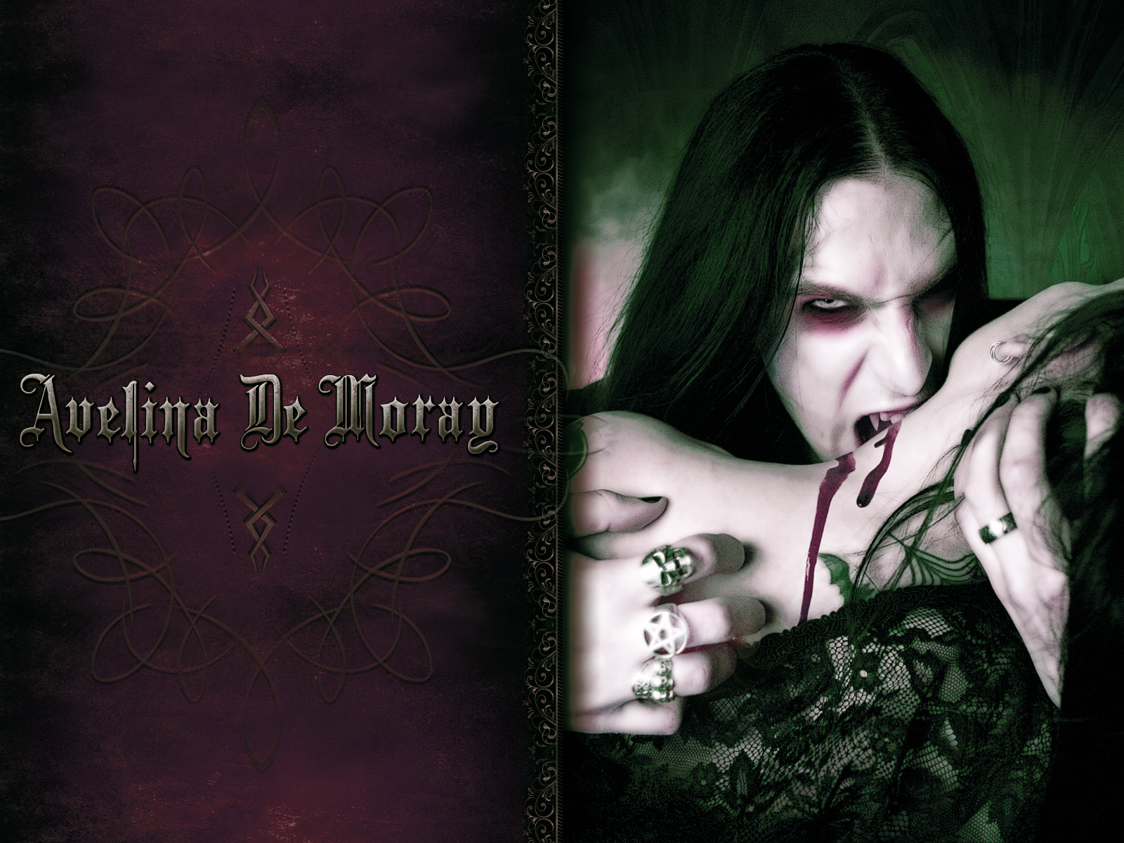 Dark gothic vampire wallpaper