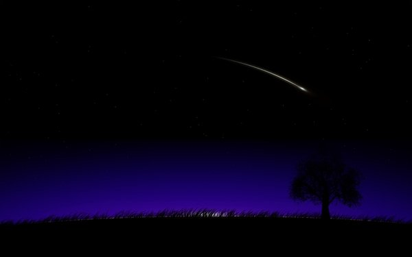 nightshooting star night shooting star Summer Wallpapers 600x375