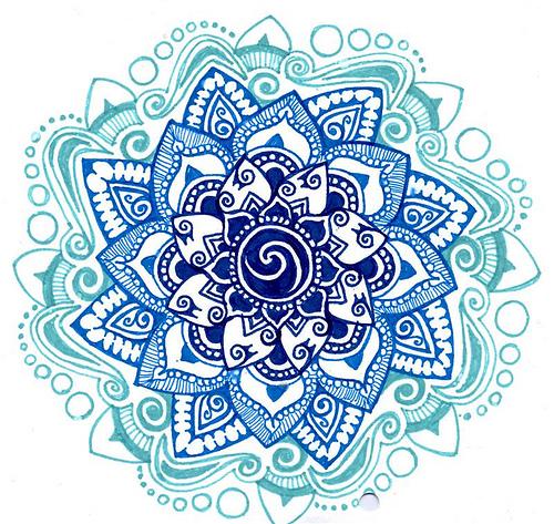 Blue shades mandala Flickr   Photo Sharing 500x473