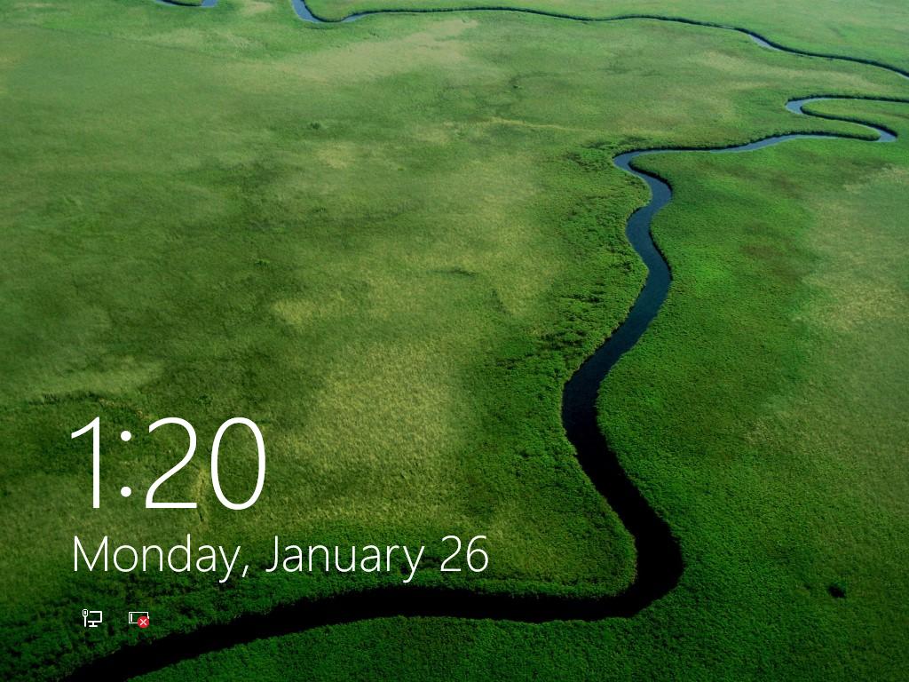 Windows lock screen 1024x768
