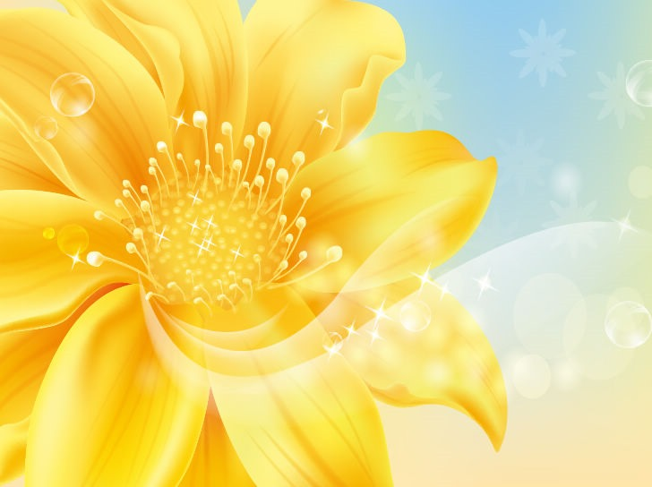 Golden Flower Vector Graphic Vector Graphics All Web 728x544