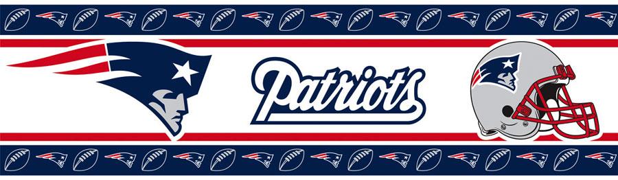 NFL New England Patriots Border   Football Decor Wall Border Roll 900x262