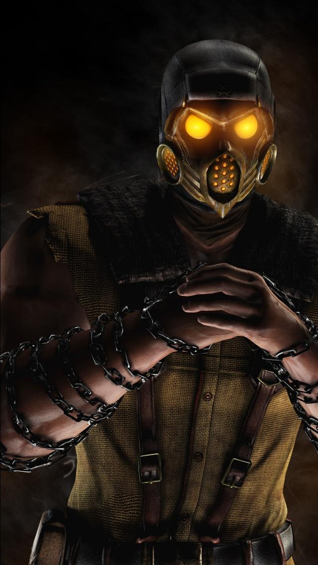 Scorpion Mortal Kombat X Game Wallpapers HD Wallpapers 640x1136