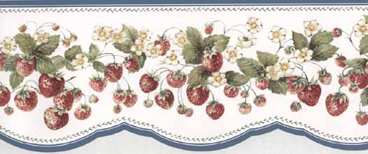 Wallpaper By Topics Kitchen Strawberries   Wallpaper Border 525x220
