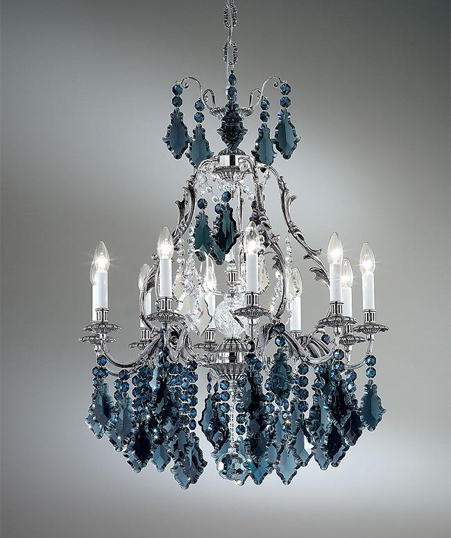 blue chandelier wallpaper-#21