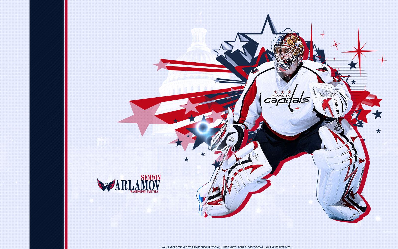 Download Wallpapers Semyon Varlamov Washington Capitals Widescreen 1600x1000