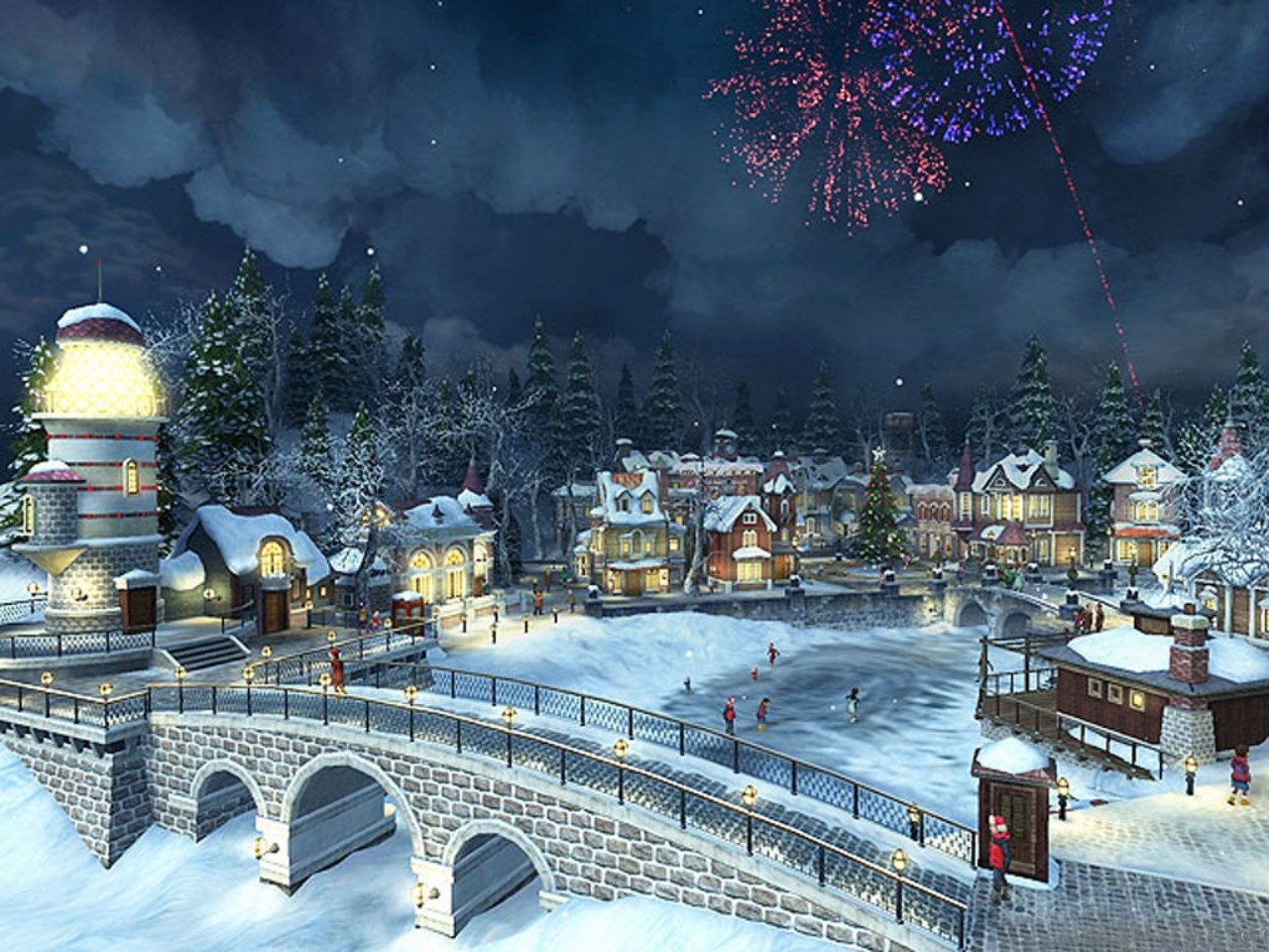 CHRISTMAS VILLAGE wallpaper   ForWallpapercom 1280x960
