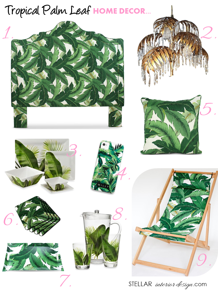 Tropical Palm Leaf Decor   Stellar Interior Design 720x960