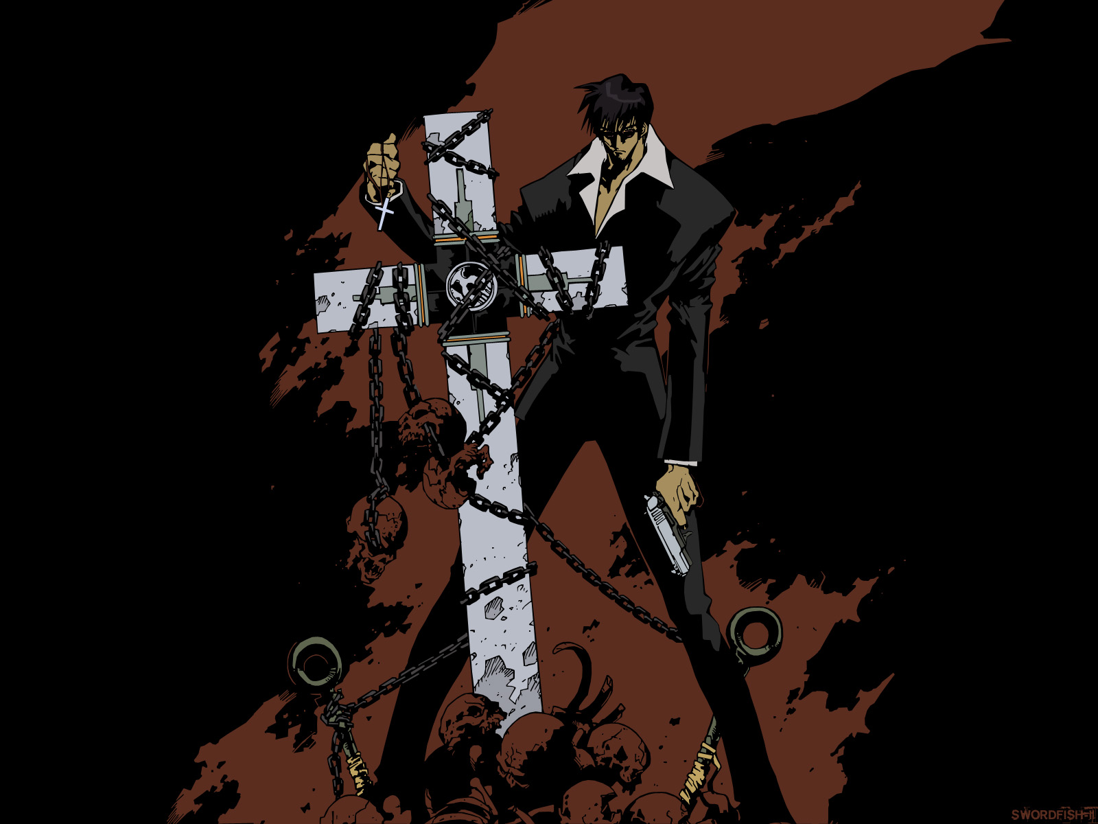 Nicolas D Wolfwood   Wallpaper and Scan Gallery   Minitokyo 1600x1200