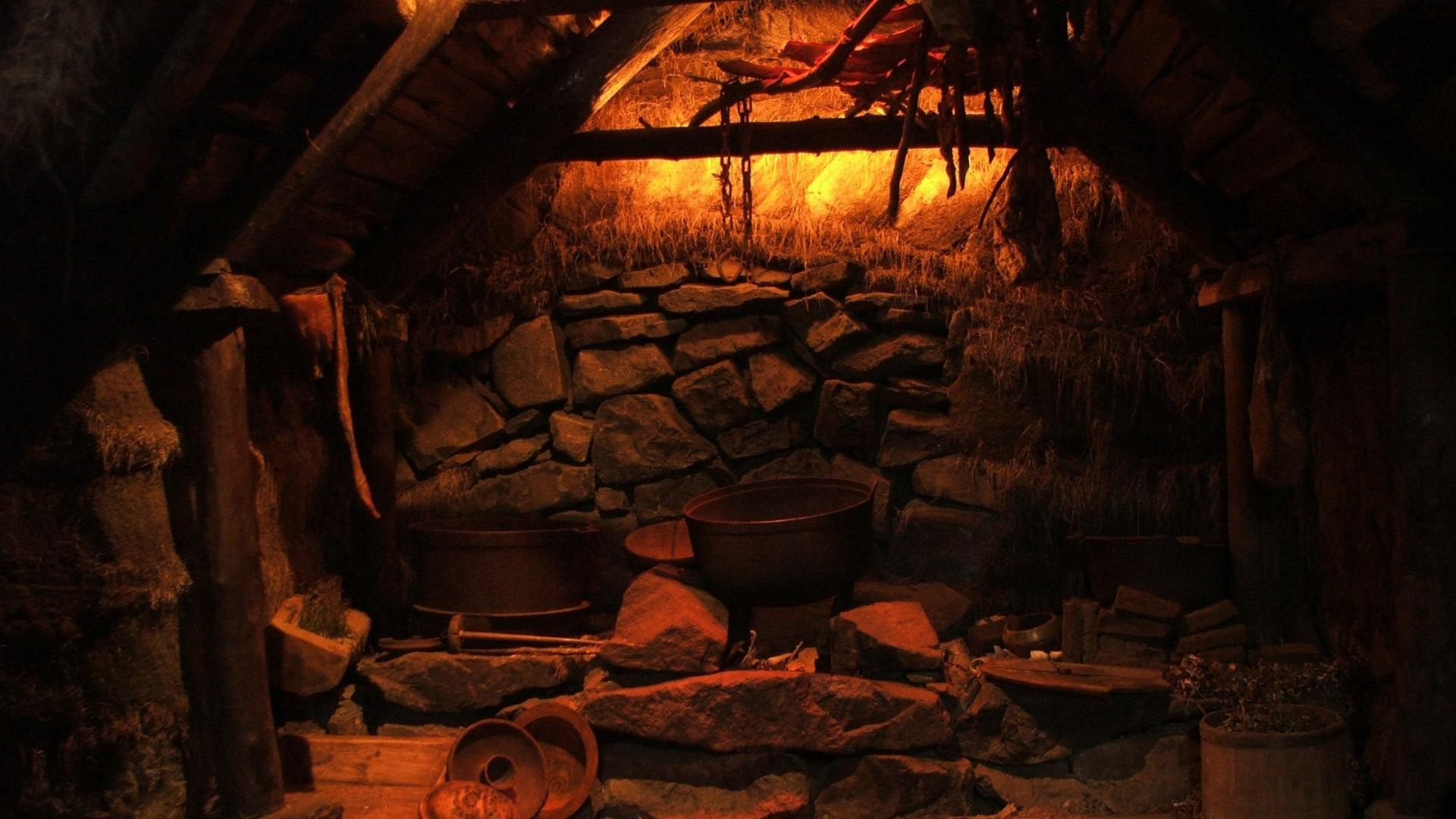 Indoors medieval cottage wiccan sigurour atlason wallpaper 31004 1920x1080