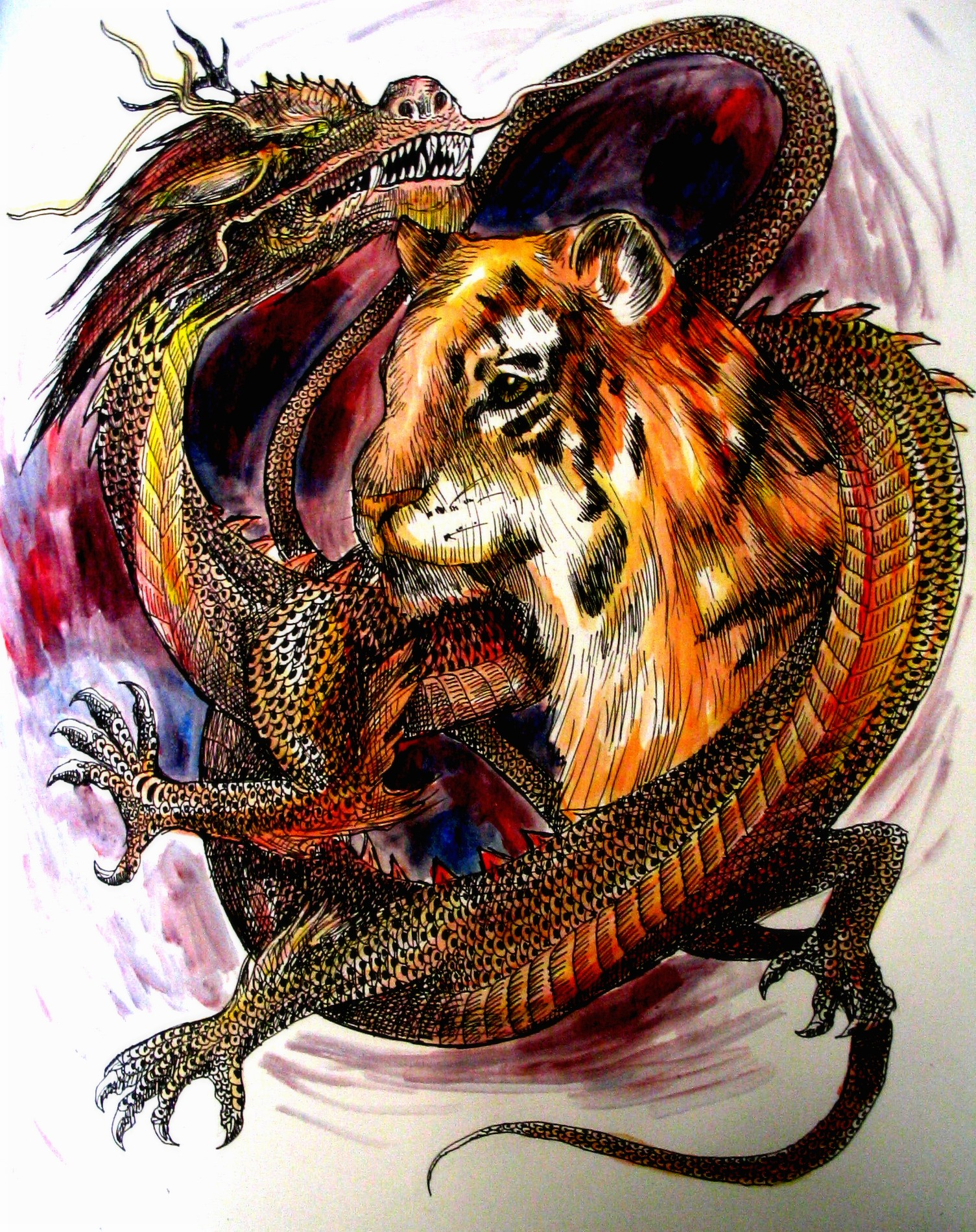 Tiger Vs Dragon Wallpaper Dragon and tiger by 1505x1900