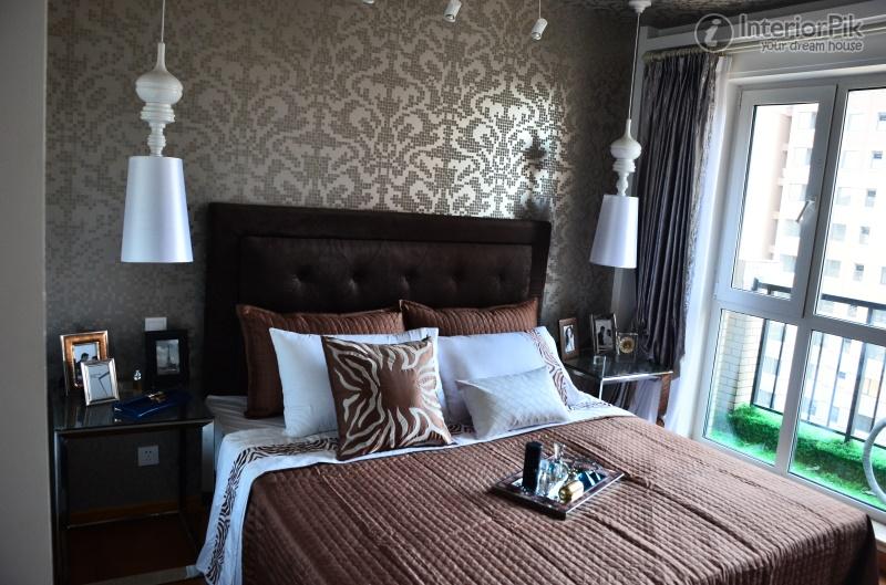 Small Modern Bedroom Wallpaper Decoration Effect Chart Appreciation