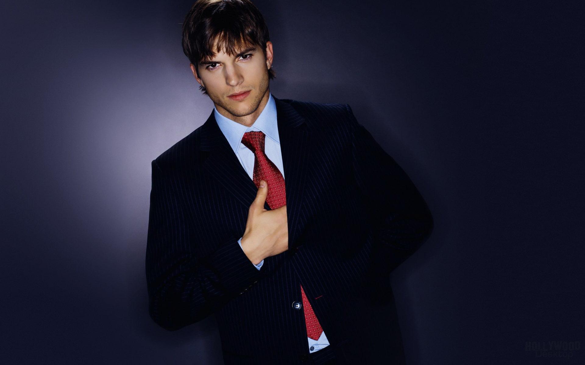 HD wallpaper Ashton Kutcher Wearing Suite Ashton Kutcher Male 1920x1200