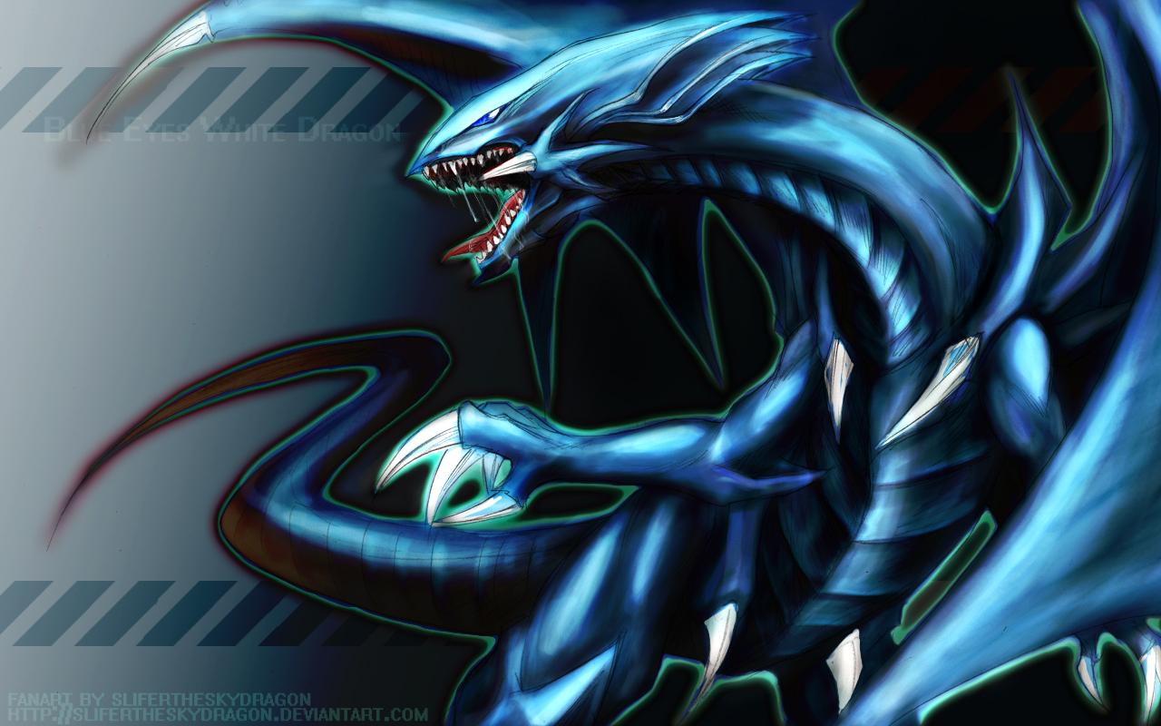 Blue Eyes White Dragon   Yu Gi Oh Wallpaper 17179629 1280x800