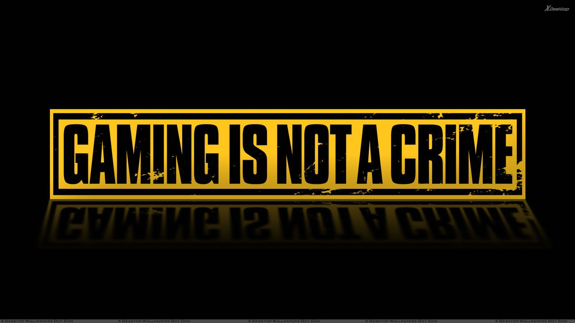 Gaming Is Not A Crime Wallpaper 1920x1080