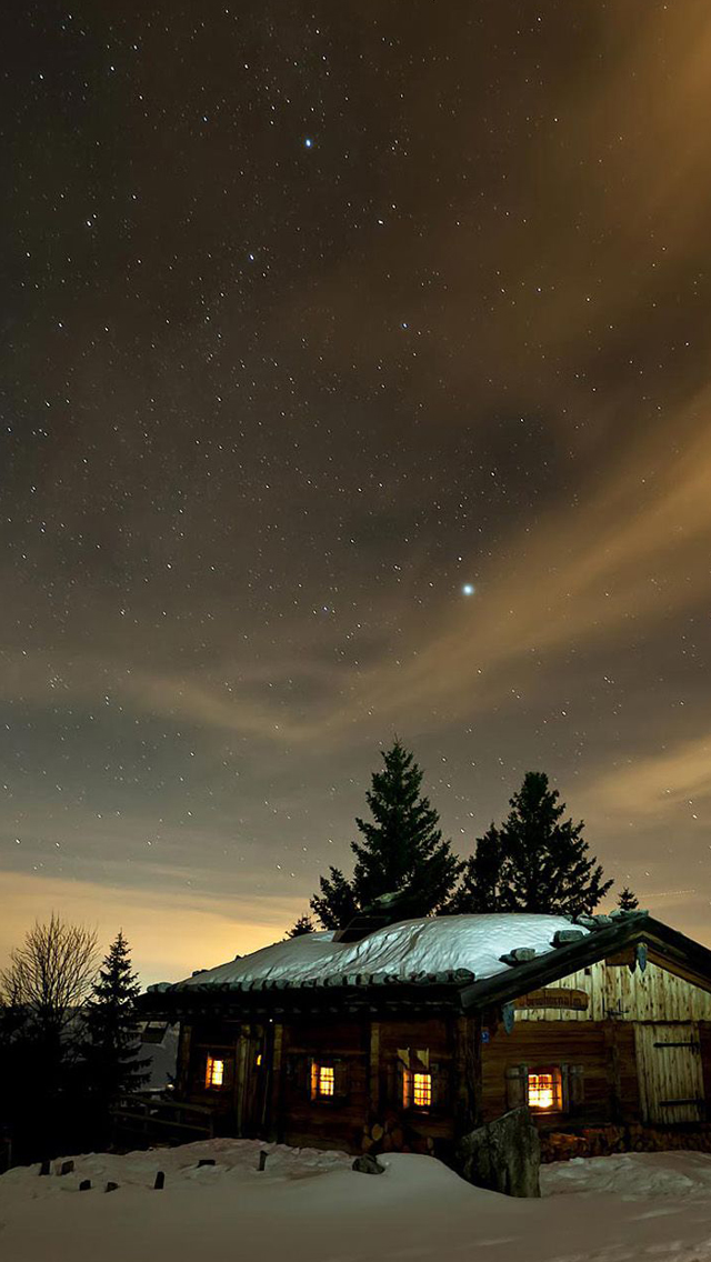 27 Winter Night Sky Wallpaper On Wallpapersafari