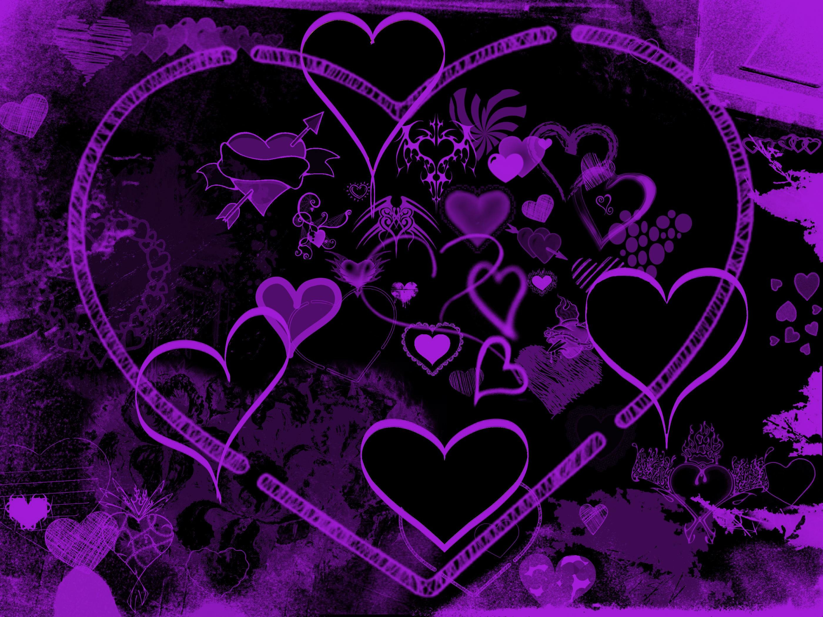 71 Purple Hearts Wallpapers on WallpaperPlay 2800x2100
