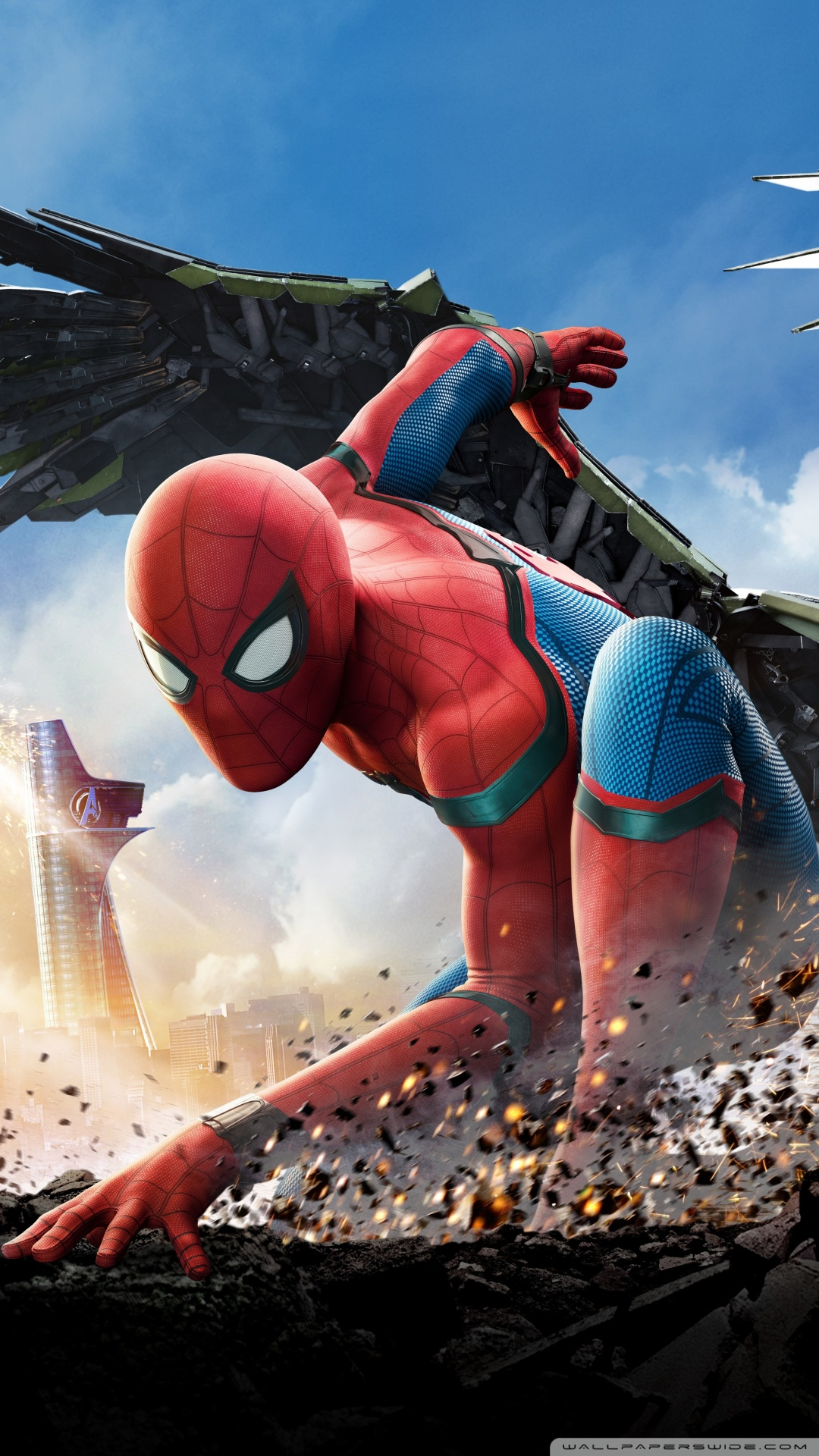 SPIDERMAN HOMECOMING 2017 4K HD Desktop Wallpaper for Wide 1080x1920