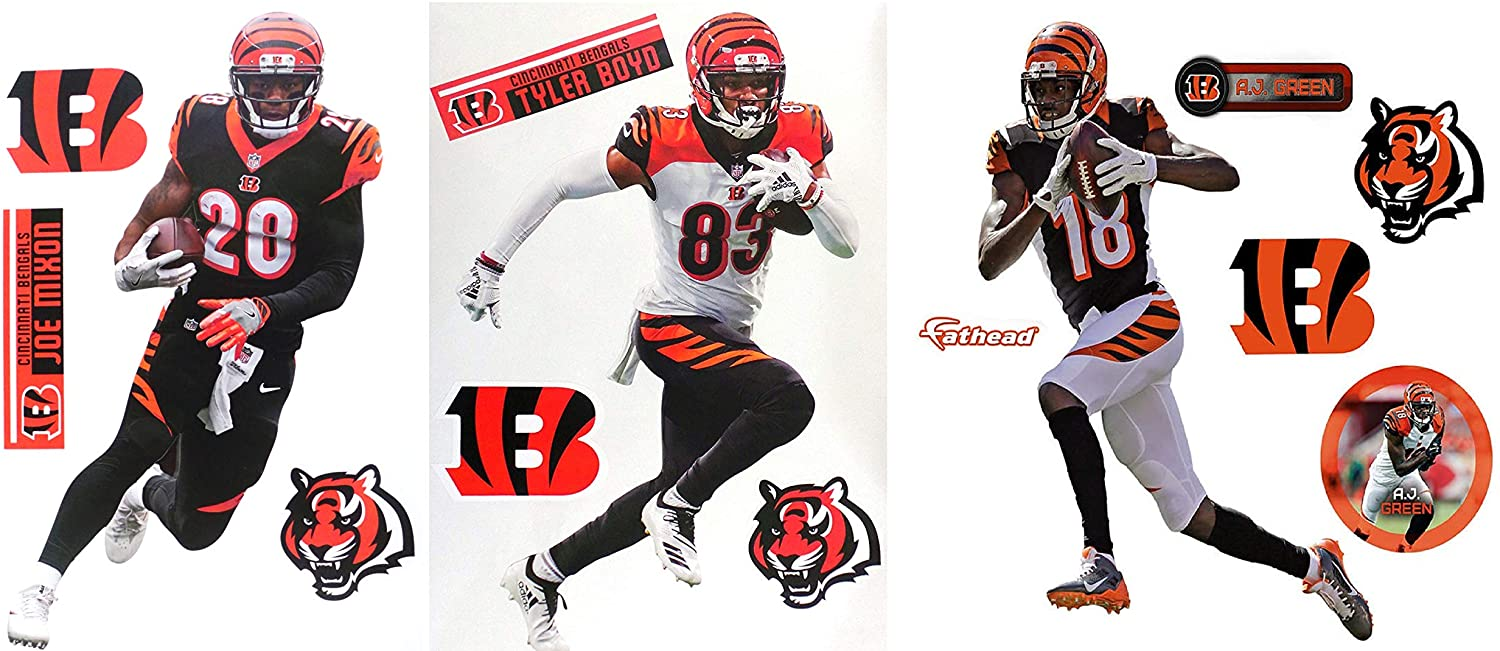 Amazoncom Cincinnati Bengals FATHEAD Collection 3 Players 3 1500x651