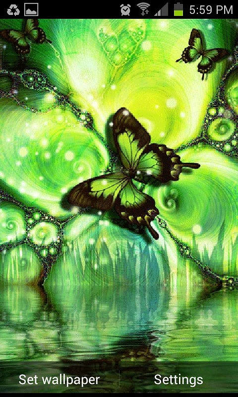 Butterfly Live Wallpaper Android Live Wallpaper download 480x800
