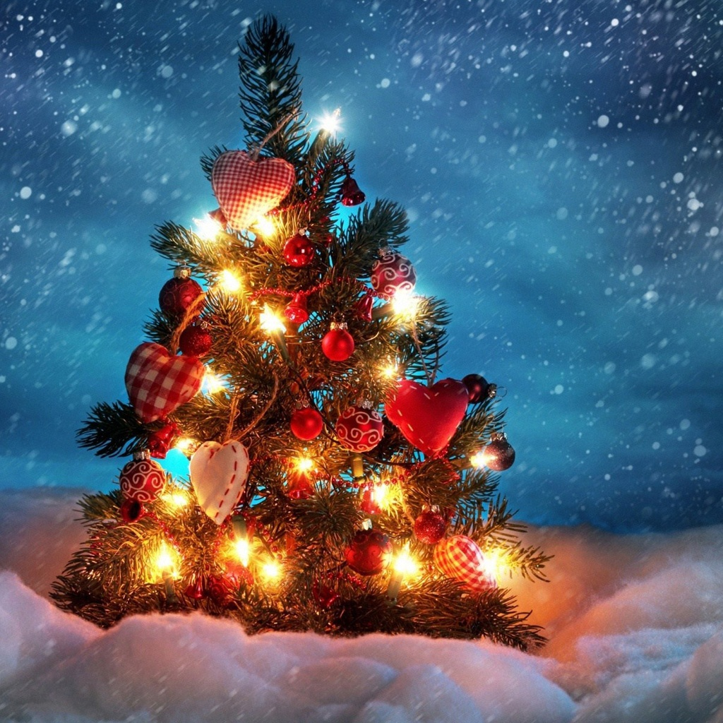 Christmas Tree iPad Wallpaper HD iPad Retina HD Wallpapers 1024x1024