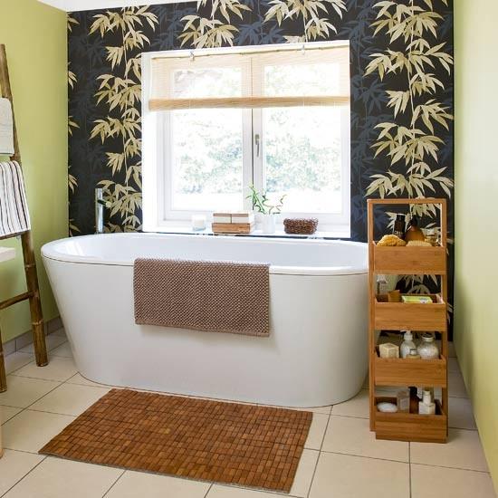 bathroom Bathroom designs Bathroom wallpaper housetohomecouk 550x550