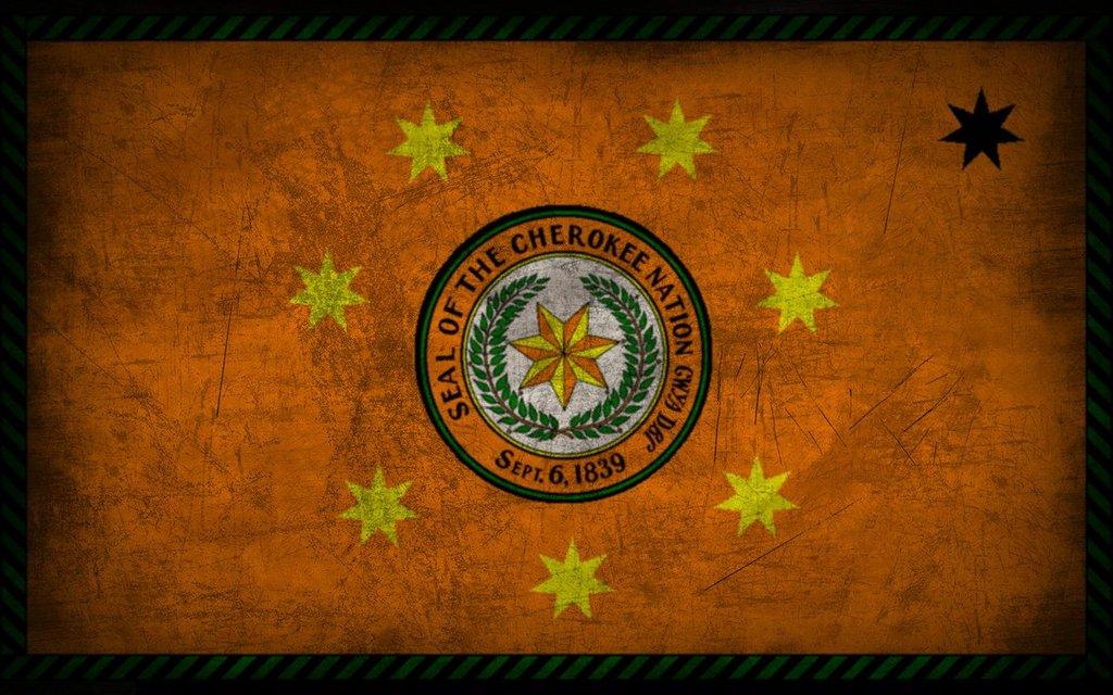 Cherokee Grunge Flag by Elthalen 1024x640
