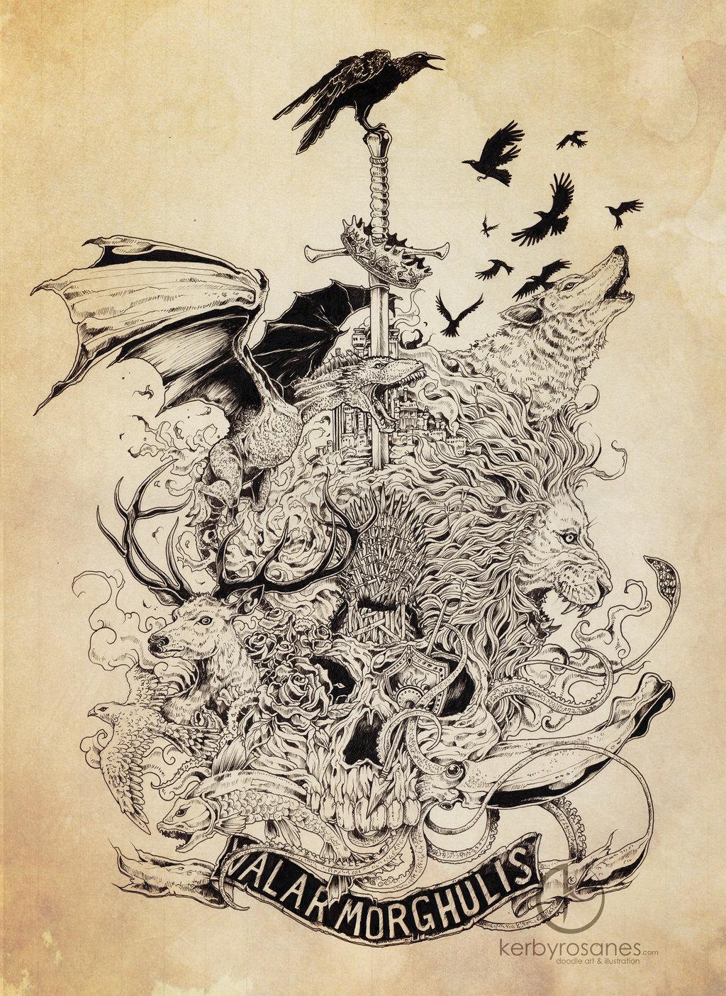 Valar Morghulis by kerbyrosanes 1024x1404