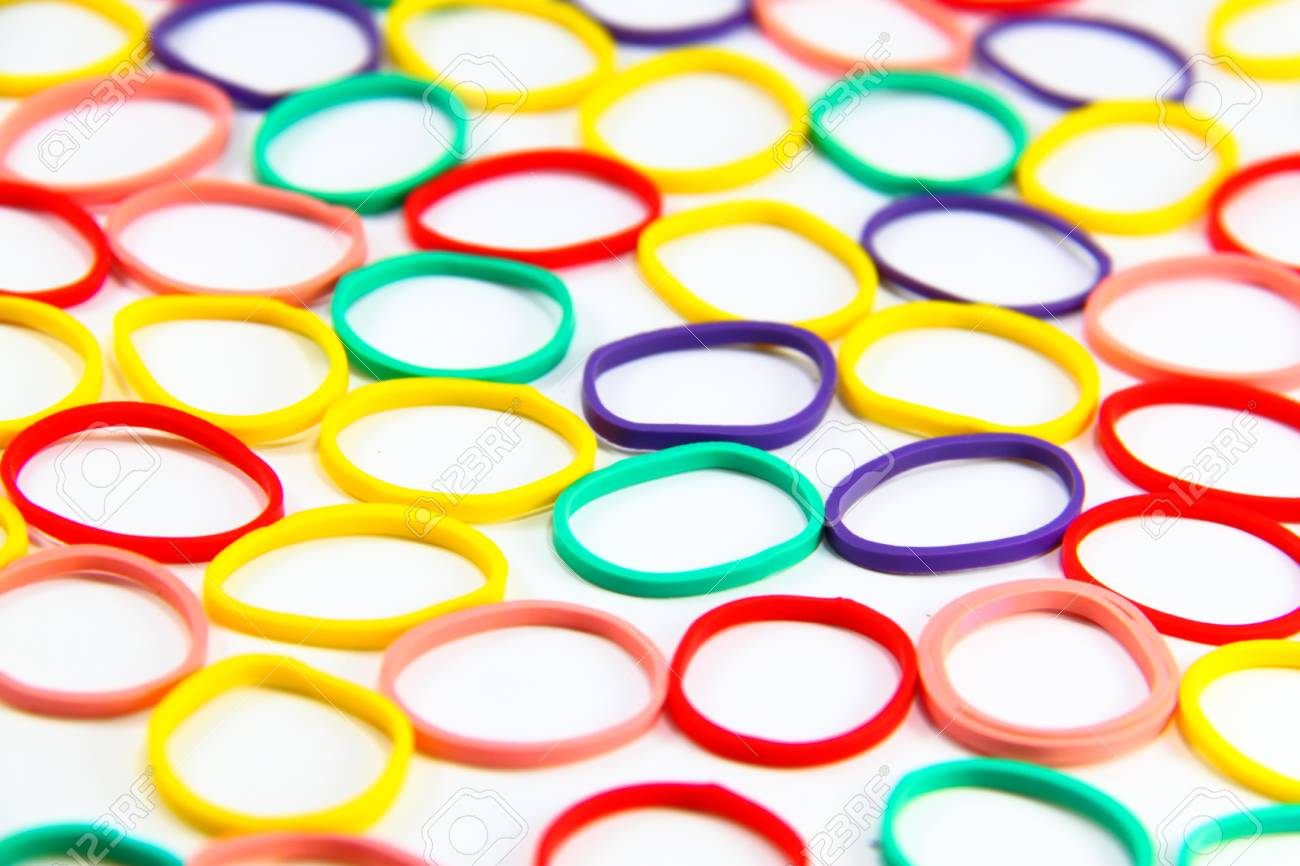 Close   Up Assorted Rubber Bands Background Or Texture Stock Photo 1300x866