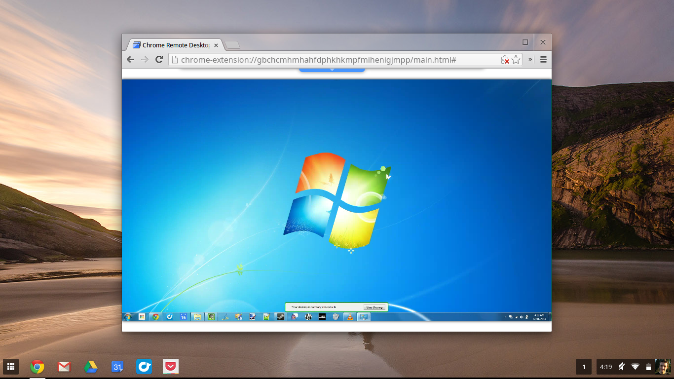 Using Chrome Remote Desktop to connect to a Windows PC Click to 1366x768