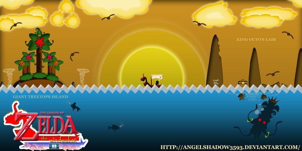 My Zelda Wind Waker HD Wallpaper by AngelShadow3593 1024x512