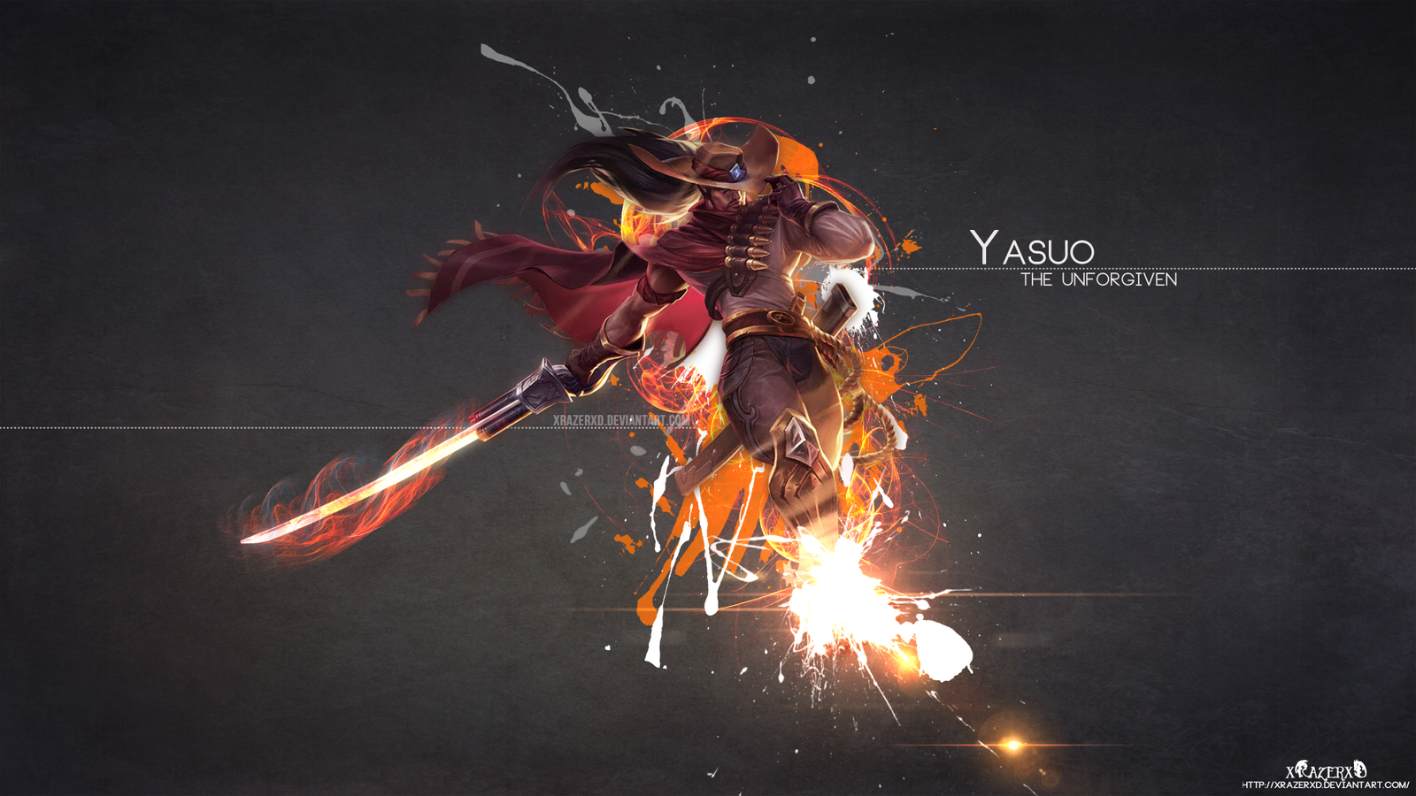 lol highnoon yasuo wallpaper hd by xrazerxd fan art wallpaper games 1600x900