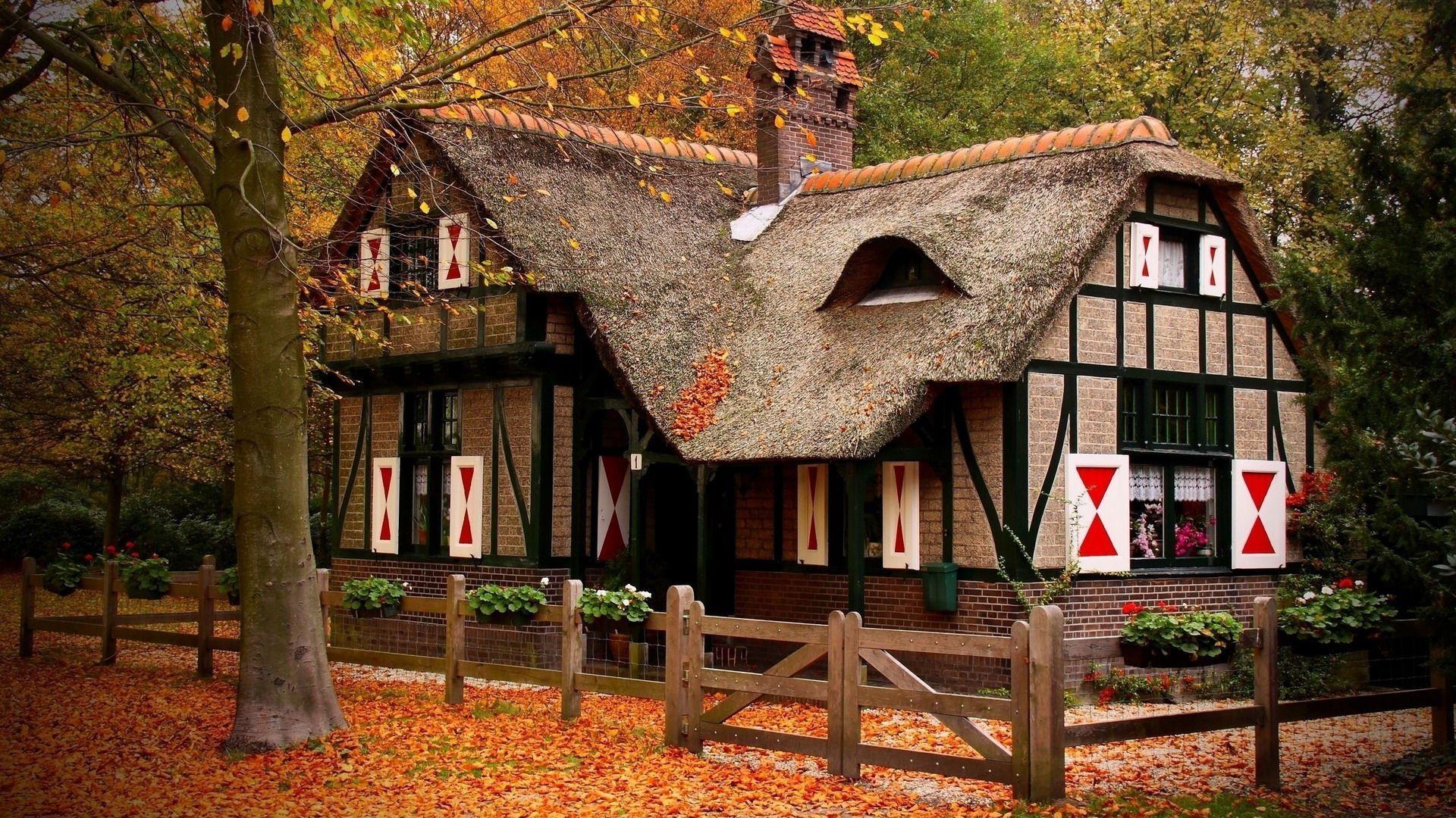 Cozy Wallpaper House cozy autumn trees hd 1920x1080