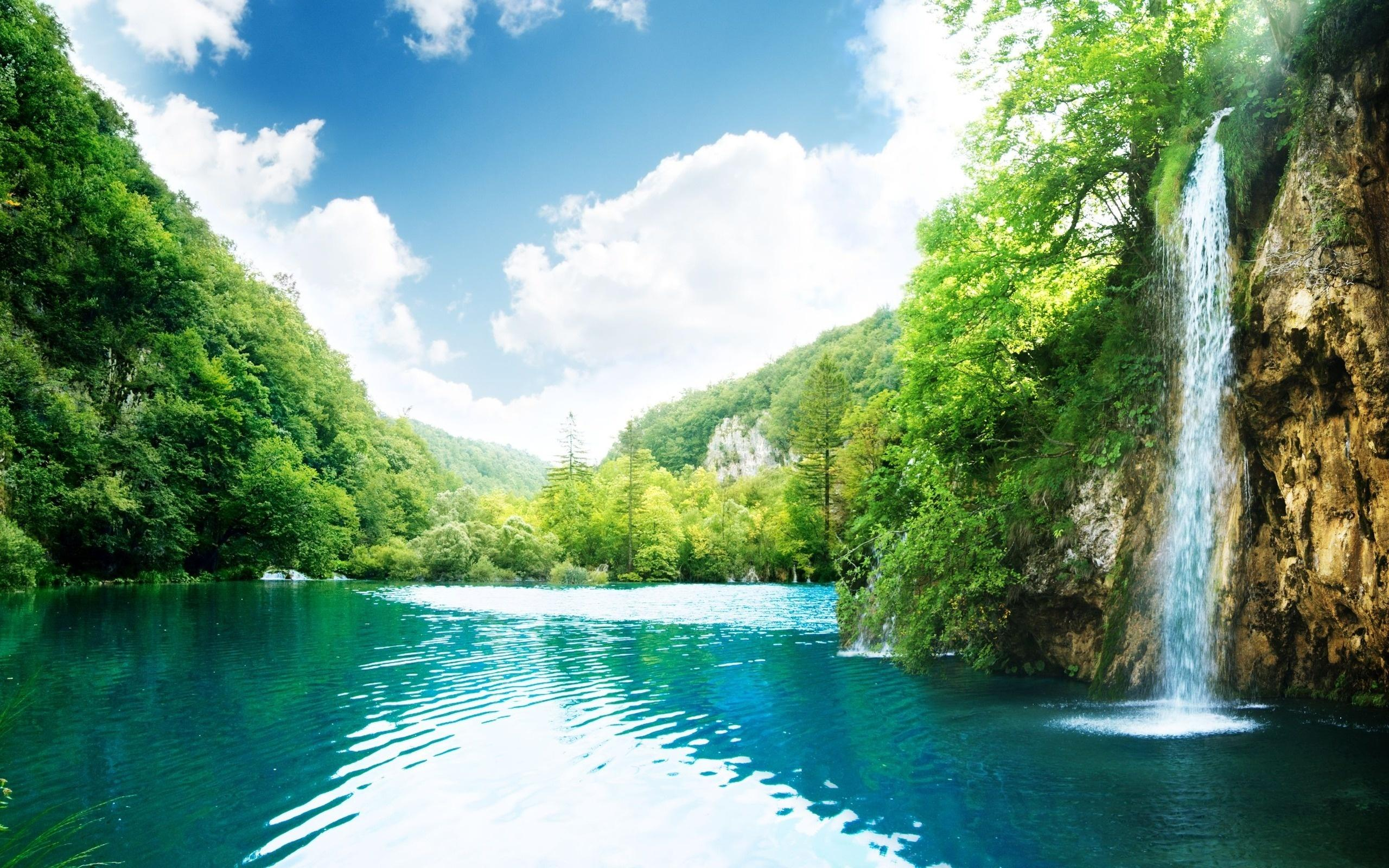 Pin Waterfall Waterfalls Wallpaper Download 2560x1600