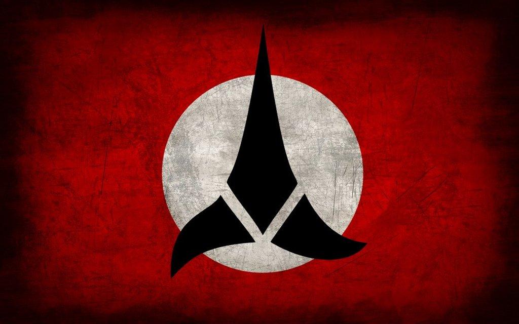 Klingon Wallpaper Klingon empire grunge flag by 1024x640