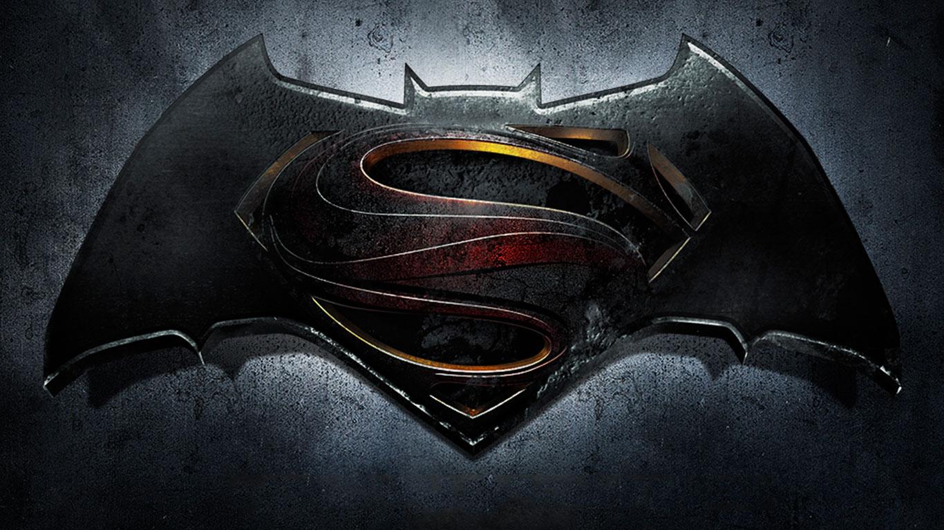 Batman VS Superman Logo Movies Wallpaper HD 12325 Wallpaper High 1366x768