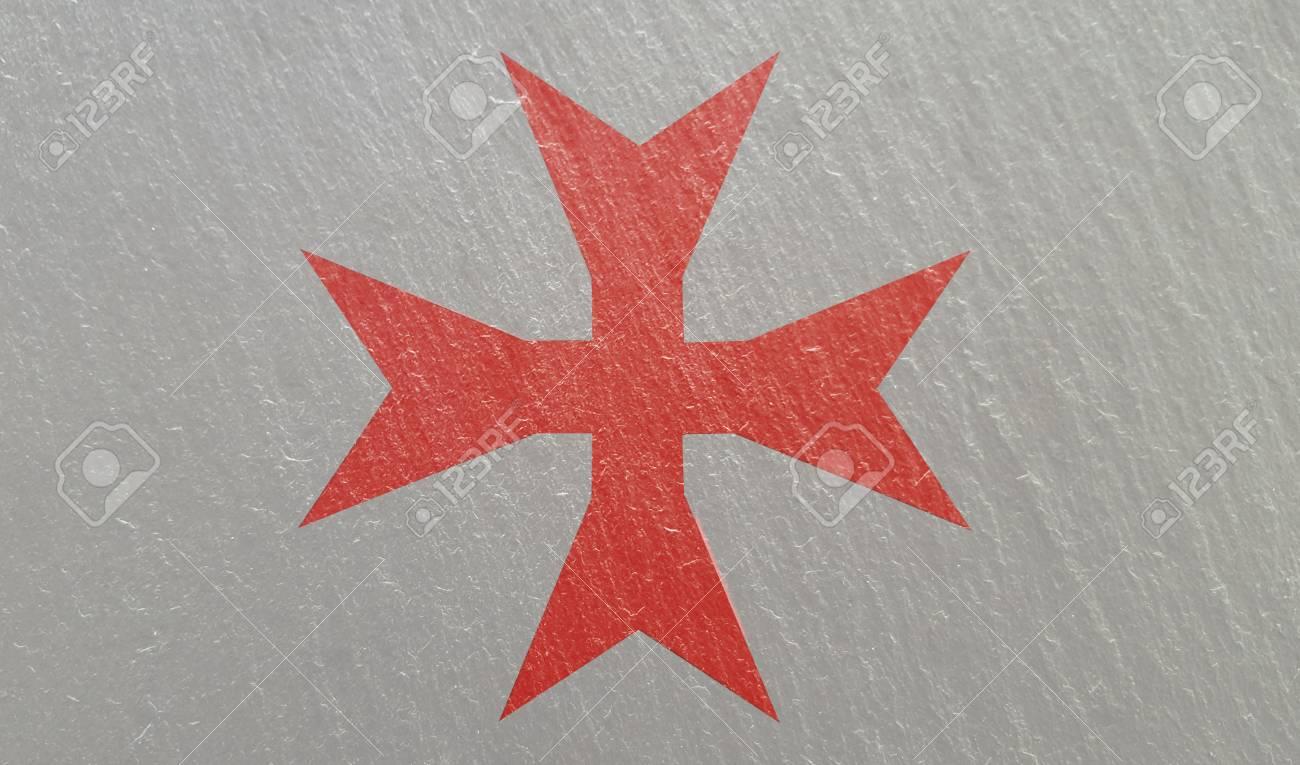 Knights Templar Cross On Stone Background Texture Stock Photo 1300x765