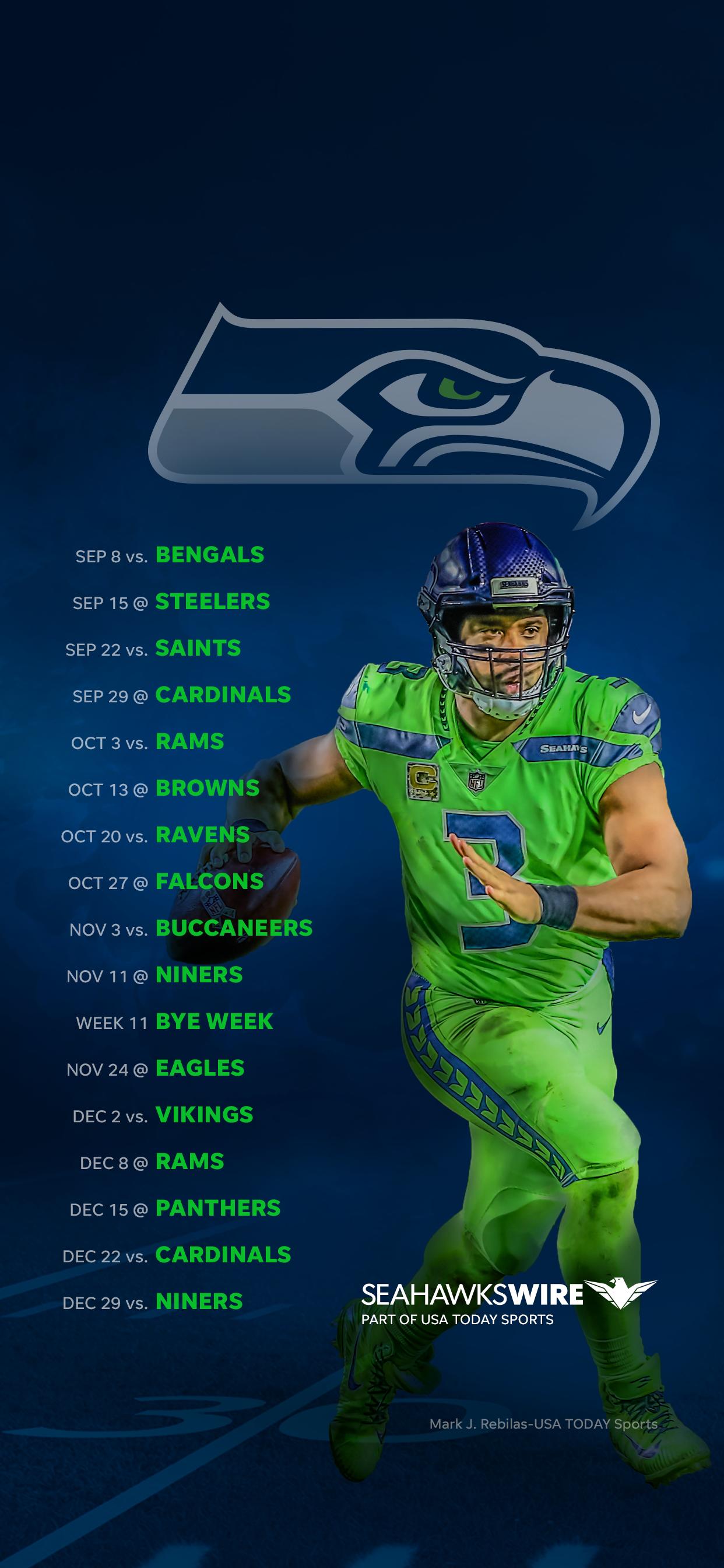 2019 Seattle Seahawks Schedule Downloadable Wallpaper 1242x2688
