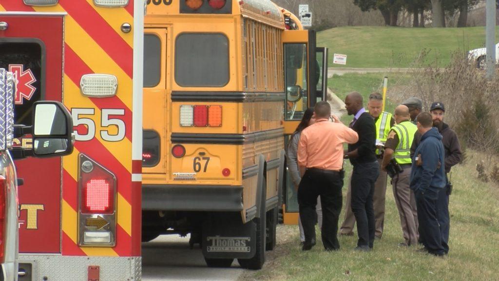 Car crosses center line hits FWCS bus   FORT WAYNES NBC 1024x576