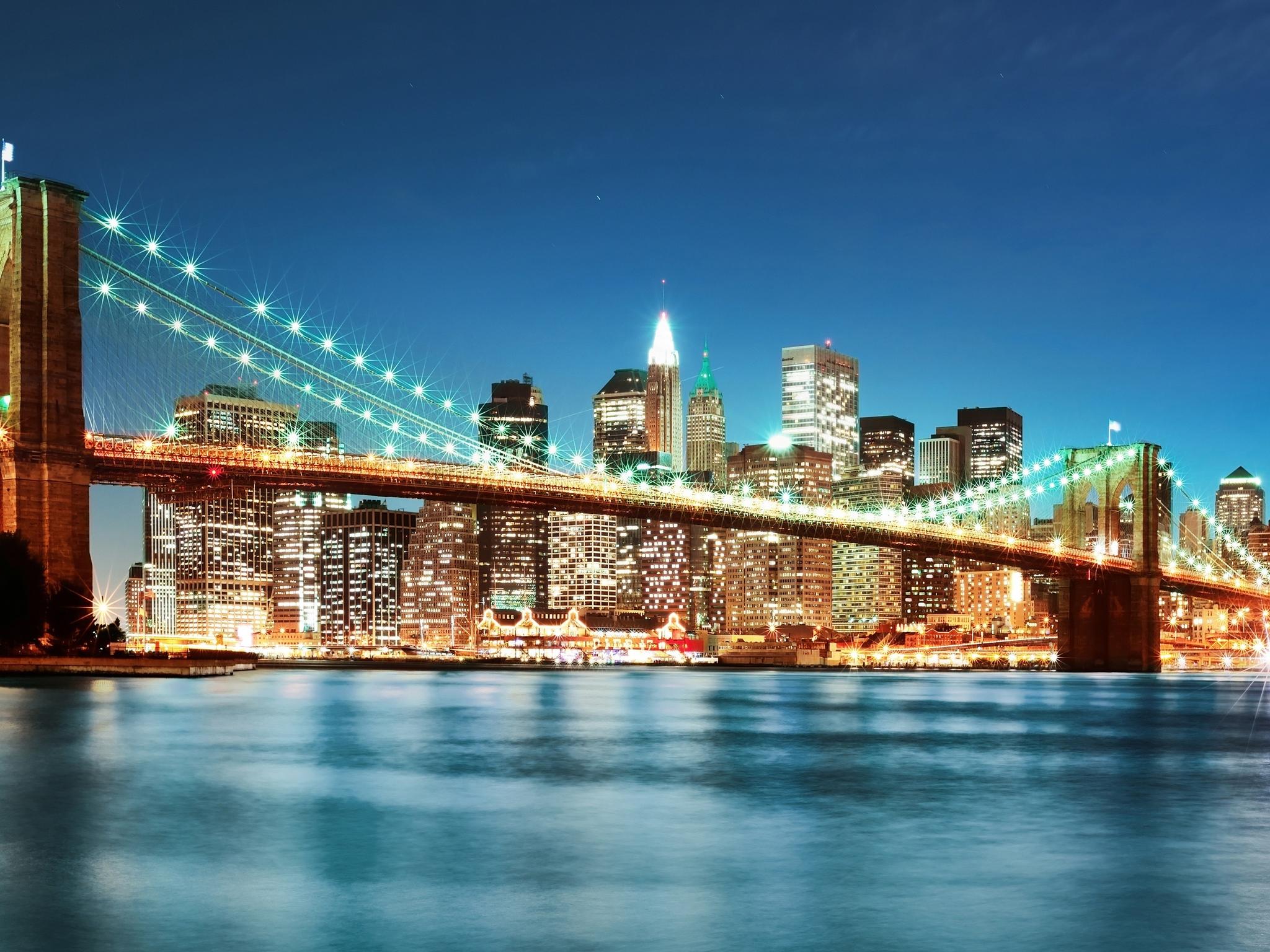 New York City Lights 4K Ultra HD wallpaper 4k WallpaperNet 2048x1536
