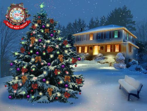 Cloudeight Premium 3D Screen Savers   White Christmas Tree In The Park 502x377