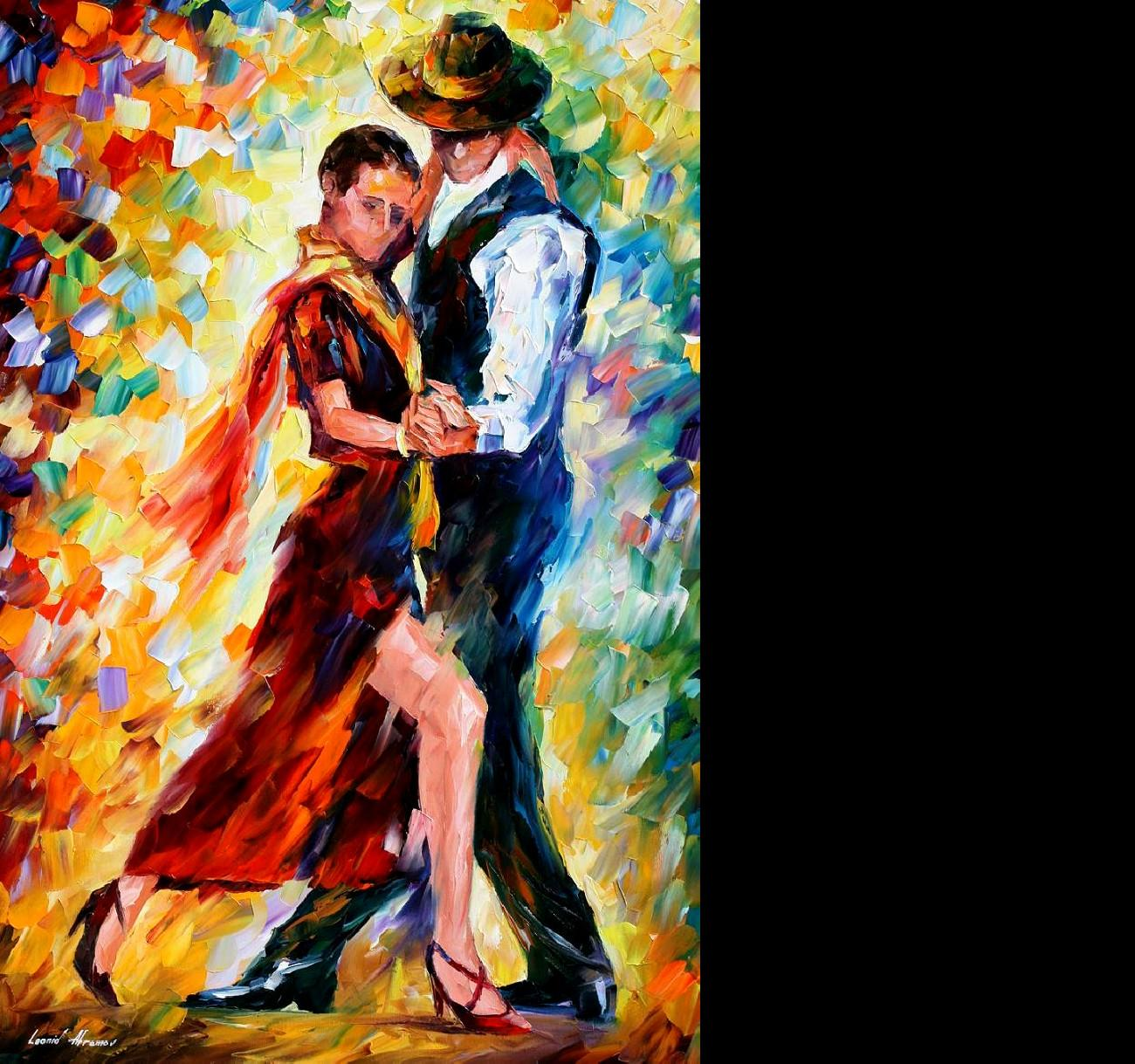 Leonid Afremov   Romantic Tango for Ton wallpaper   ForWallpaper 1300x1219