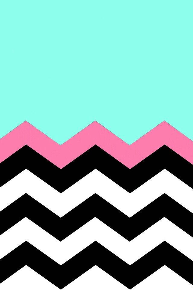 Teal black and pink chevron stripes Backgrounds Pinterest 640x960