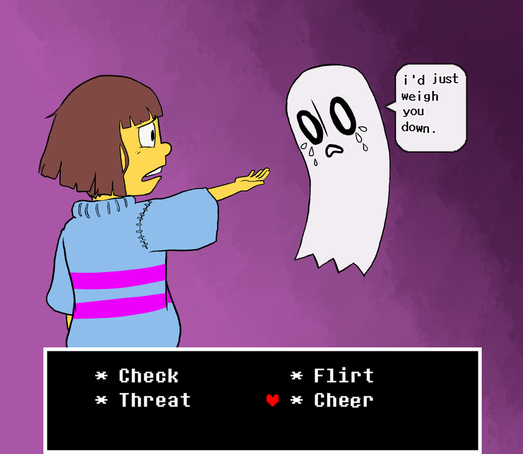 Undertale Sad Ghost by Leemak 1024x890