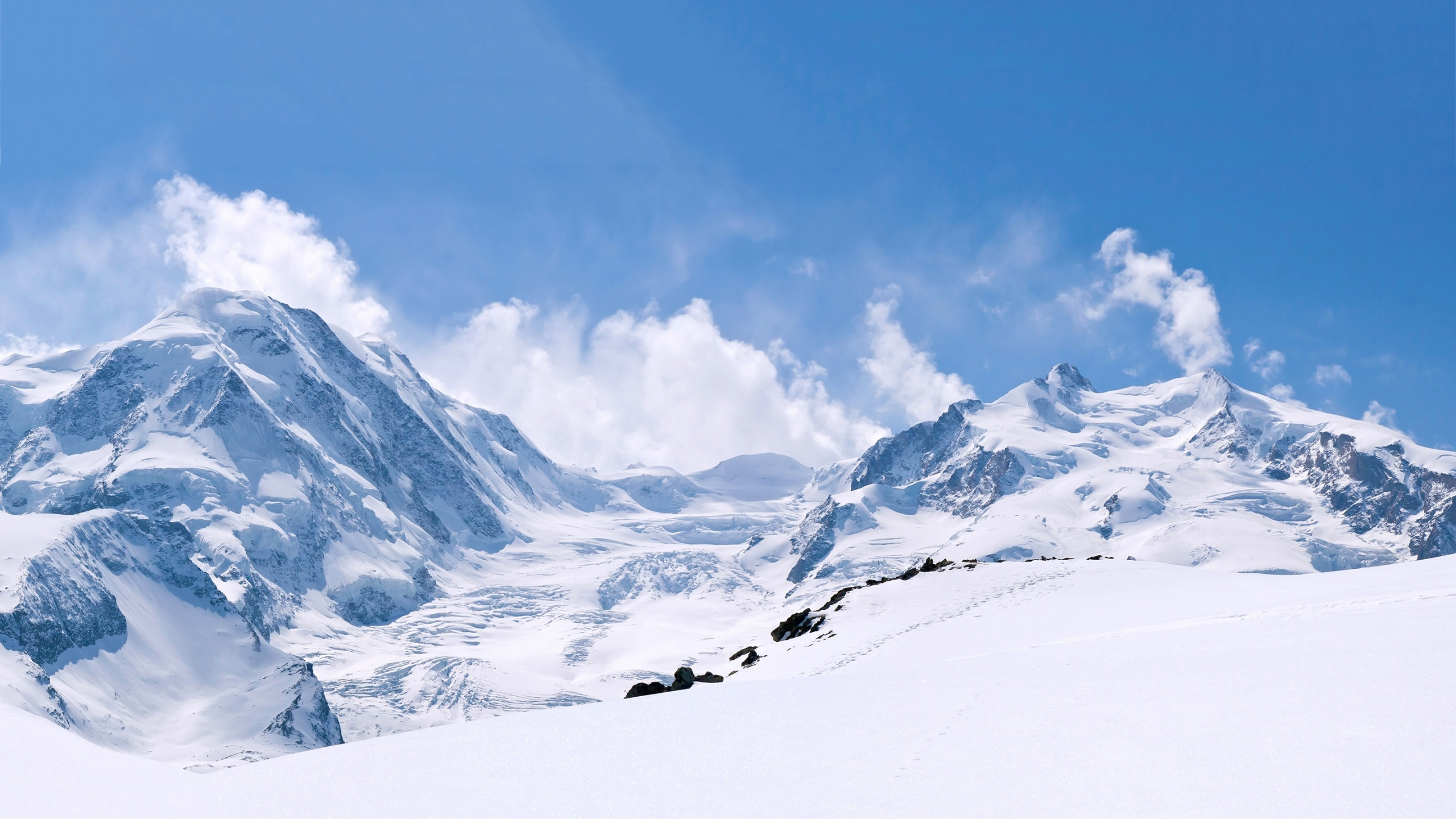 Mountain And Winter Wallpapers HD 2560x1440