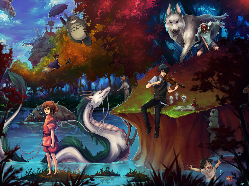 Hayao Miyazaki Wallpaper 1024x768
