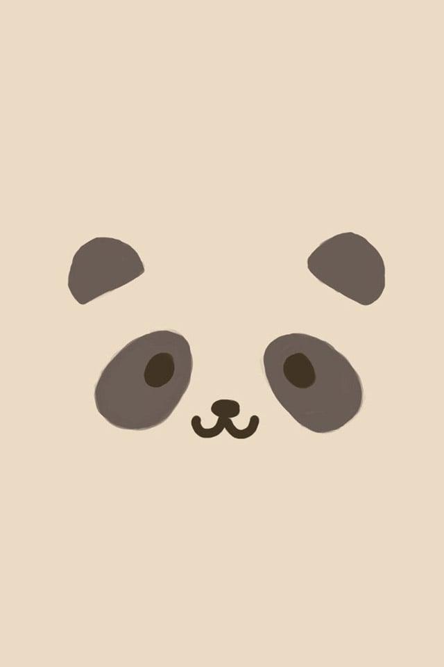 Panda Face iPhone Wallpaper HD 640x960