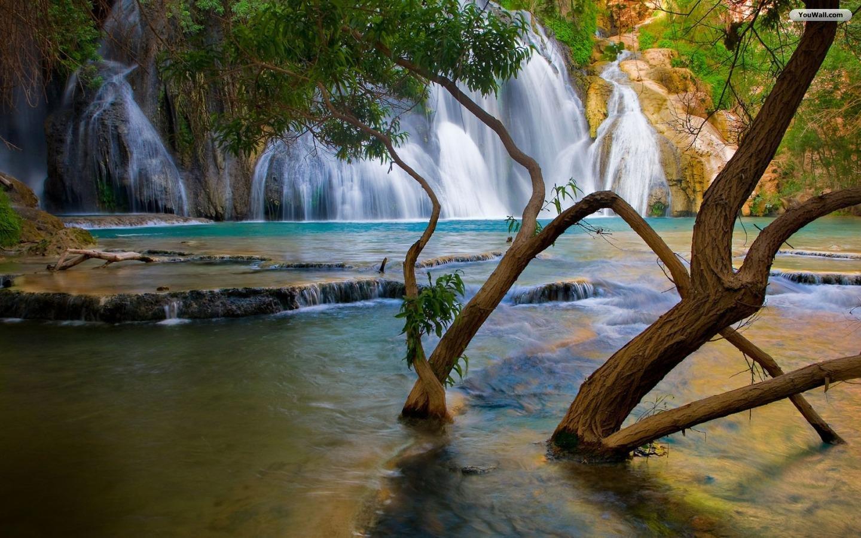 YouWall   Very Beautiful Waterfall Wallpaper   wallpaperwallpapers 1440x900